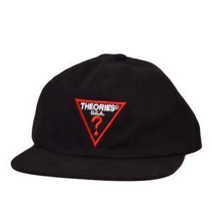 THEORIES キャップ Mysterian Cap One Size BLACK セオリーズ ストリート スケートボード スナップバック 帽子 SKATE スケボー 黒|crass
