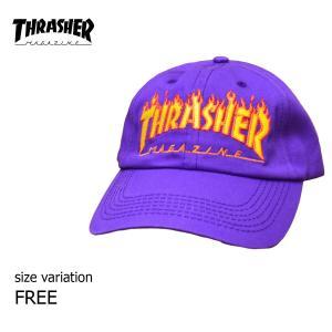 THRASHER キャップ FLAME OLDTIMER HAT スナップバック 帽子 スラッシャー メンズ レディース スケボー SK8 ストリート スケート|crass
