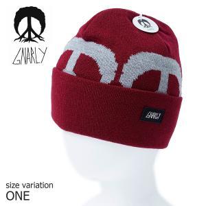 GNARLY ビーニー ニット帽 BIG TREE BEANIE One Size ナーリー フード スノーボード スノボ 帽子 BURGUNDY スケートボード スノーキャップ 防寒 crass