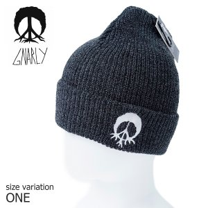 GNARLY ビーニー ニット帽 BURNOUT BEANIE GRY One Size ナーリー スノーボード スノボ 帽子 防寒|crass