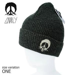 GNARLY ビーニー ニット帽 BURNOUT BEANIE OLV One Size ナーリー スノーボード スノボ 帽子 防寒 crass