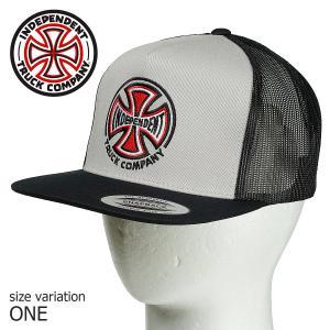 INDEPENDENT インディペンデント キャップ TRUCK CO MESH TRUCKER SILVER/BLACKスケボー スケートボード SKATE ストリート 帽子|crass
