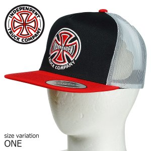 INDEPENDENT インディペンデント キャップ TRUCK CO MESH TRUCKER BLACK/WHITE/REDスケボー スケートボード SKATE ストリート 帽子|crass