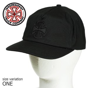 INDEPENDENT インディペンデント キャップ BAR CROSS FADE OUT SNAP BACK BLACK スケボー スケートボード SKATE ストリート 帽子|crass