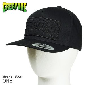 CREATURE REVERSE PATCH SNAPBACK HATS クリーチャー キャップ|crass