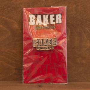BAKER DECK ピンバッチ BRAND LOGO LAPEL PIN ベイカー スケボー アンドリュー レイノルズ 正規品 SKATEBOARD スケートボード|crass