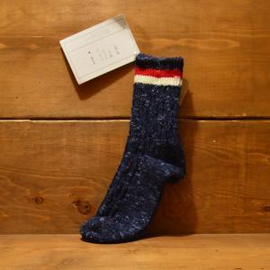 SUNNY NOMADO 靴下 サニー ノマド メンズ ケーブル2本ライン 綿 ヘンプ へんぷ 奈良 こだわり 国産 ドメスティック made in japan hemp TMSOO 052|crass