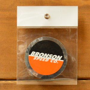 07042ec1966fac BRONSON ステッカーSPOT LOGO 2.5 BLACK ORANNGE ブロンソン スケボー sk8