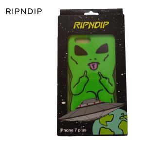 ripndip iPhone ケース リップンディップ Lord Alien iPhone Case 7+ 7S+ GREEN 緑 スケボー スケートボード ストリート シリコン スマホケース カバー 耐衝撃|crass
