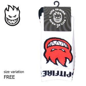 SPITFIRE ソックス 靴下 SF SOCKS BIGHEAD FILL BLACK White RED スピットファイヤー メンズ ストリート スケートボード スポーツソックス レッグウエア|crass