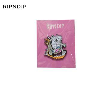RIPNDIP スケートボード シュプリーム リップンディップ リッピンディップ Nerm Gearhead Pin スケボー ねこ キャット ピンバッチ ピンバッジ バッヂ|crass