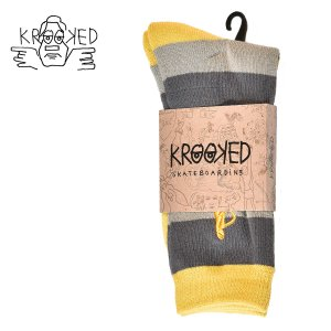 KROOKED ソックス 靴下 SOCK SHMOLO STRIPE クルキッド クルックド メンズ ストリート スケートボード スポーツソックス スケボー ハイソックス crass