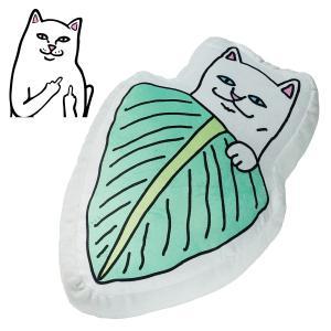 リップンディップ RIPNDIP ぬいぐるみ クッション Nermal Leaf Pillow 枕 まくら スケボー スケート ストリート SKATE ネコ ねこ キャット スケートボード crass