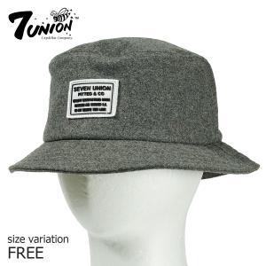 7UNION バケットハット セブンユニオン  7s Force Bucket Hat ハット グレー 帽子 バケハ|crass