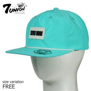 7UNION con Patch Poly Cap ストラップバック 帽子 メンズ レディース|crass