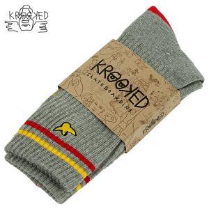 KROOKED BIRD HEATHER GREY クルキッド クルックド ソックス 靴下 スケボー マークゴンザレス|crass