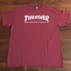 THRASHER Tシャツ スラッシャー セール MAG LOGO BURGUNDY S M L メンズ レディース ストリート スケボー 正規品 半袖 ロゴ バーガンディー|crass
