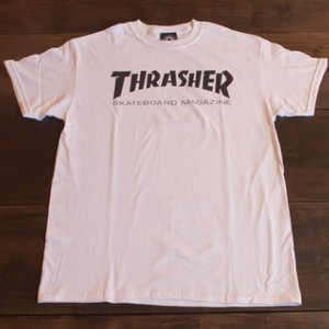 THRASHER Tシャツ スラッシャー セール MAG LOGO WHITE S M L メンズ レディース ホワイト ストリート スケボー 正規品 半袖 ロゴ 白|crass