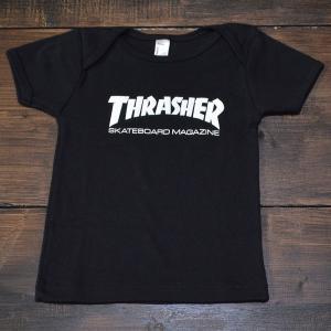 THRASHER Tシャツ 幼児 INFANT SKATE MAG BABY 12-18month  BLACK スラッシャー スケボー スケート 正規品 半袖 SK8 SKATE ストリート 黒 ブラック 赤ちゃん|crass