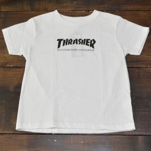 THRASHER Tシャツ キッズ 子供 TODDLER TEE SKATE MAG 5 6 WHITE スラッシャー スケボー スケート 半袖 SK8 SKATE ストリート 白 ユース ジュニア サイズ|crass