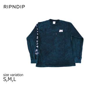 RIPNDIP Tシャツ ロンT Lord Nermal Pocket L/S リップンディップ ロングスリーブ メンズ レディース スケートボード ねこ きのこ|crass