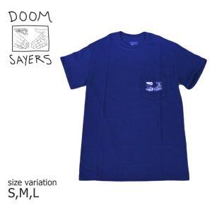 DOOM SAYERS Tシャツ 半袖  Snake Shake Pocket Tee ドゥームセイヤーズ ドームセイヤーズ SK8 スケートボード ネイビー|crass