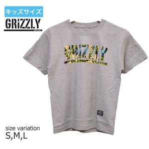 グリズリー GRIZZLY Tシャツ グリップテープ キッズ TJ ROGERS S/S YOUTH TEE 半袖  ユースサイズ 子供服 HEATHER|crass