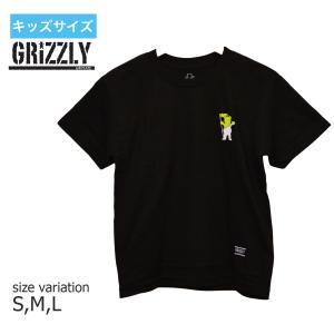 グリズリー GRIZZLY Tシャツ グリップテープ キッズ TUBULAR S/S YOUTH TEE 半袖  ユースサイズ 子供服  BLACK|crass