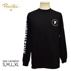 PRIMITIVE ロンT 長袖 プリミティブ スケート ボード DIRTY ORBIT L/S TEE ロングスリーブ メンズ スケボー ストリート SKATEBOARD BLACK ブラック 黒|crass