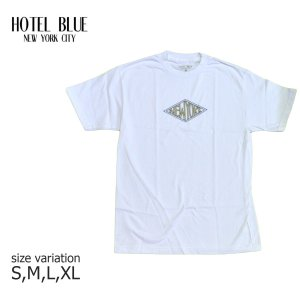 HOTEL BLUE NYC SKATE Tシャツ ホテル ブルー スケート ボード DIAMOND S/S TEE メンズ スケボー ストリート SKATEBOARD 白 crass