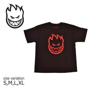 SPITFIRE Tシャツ YOUTH S/S BIG HEAD TEE スピットファイヤ 半袖 Black Red 黒 赤 ブランドロゴ メンズ ストリート スケートボード crass