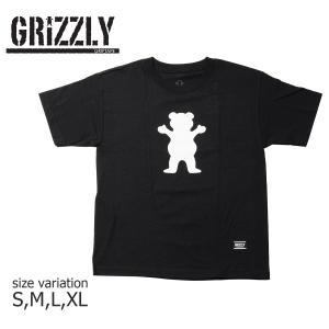 グリズリー GRIZZLY Tシャツ グリップテープ キッズ OG BEAR YOUTH S/S TEE 半袖  ユースサイズ 子供服 BLACK crass