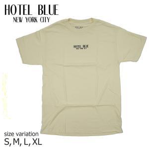 HOTEL BLUE ホテルブルー LOGO TEE CREAM Tシャツ 半袖 トップス|crass