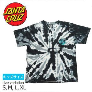 SANTA CRUZ YOUTH WAVE DOT S/S TEE TWIST BLACK Tシャツ トップス サンタクルーズ|crass