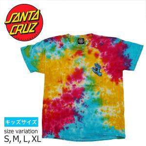 SANTA CRUZ YOUTH SCREMIAMING HAND S/S TEE MULTI RAINBOW Tシャツ トップス サンタクルーズ|crass
