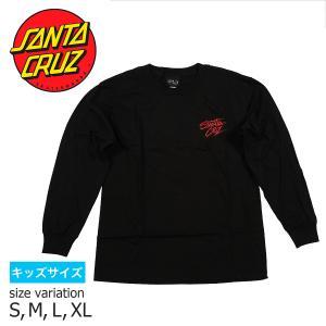 SANTA CRUZ YOUTH BURN DOWN L/S TEE BLACK Tシャツ ロングスリーブ ロンT ロンティー トップス サンタクルーズ|crass