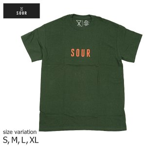 SOUR ARMY S/S TEE BOTTLE GREEN サワー Tシャツ グリーン 半袖 スケボー スケートボード メンズ crass