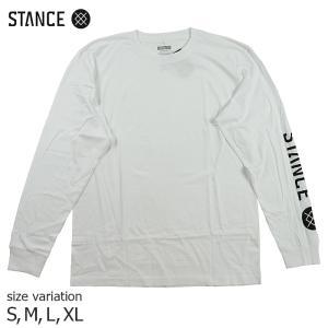 STANCE SOURCE LS WHITE ホワイト Tシャツ ロングスリーブ メンズ 長袖 SKATE スケボー スノーボード ストリート SK8 crass