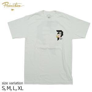 PRIMITIVE CHERRY BLOSSOM TEE WHITE S Tシャツ 半袖 プリミティブ スケート ボード メンズ スケボー ストリート SKATEBOARD|crass