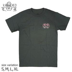KROOKED STRAIT EYES TEE CHARCOAL Tシャツ クルキッド 半袖 マークゴンザレス ゴンズ SKATE スケートボード|crass