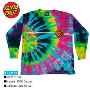 SANTA CRUZ Wave Dot S/S Tee YOUTH Rainbow M Lサイズ Tシャツ トップス サンタクルーズ 半袖|crass