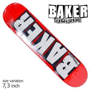 BAKER DECK デッキ ベイカー BRAND LOGO WHITE MINI 7.3 スケボー アンドリュー レイノルズ 正規品 SKATEBOARD SKATE スケートボード デッキ|crass