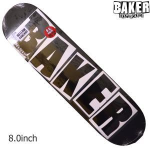 BAKER デッキ ベイカー deck 8 BK BRAND LOGO DECK BLACK WHITE スケボー アンドリュー レイノルズ 正規品 SKATEBOARD O.G.CONCAVE SKATE スケートボード|crass