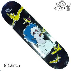 KROOKED デッキ スケートボード スケボー WOREST FLIPPED BIRD 8.125 クルキッド クルックド プロ モデル メンズ スケート SKATE ゴンズ アソート crass
