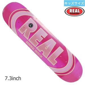 スケボー 子供  デッキ REAL 7.3 OVAL DUO FADE リアル Pink ピンク skateboards|crass