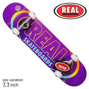 REAL デッキ スケートボード スケボー TEAM OVAL GLEAMS COMPLETE 7....