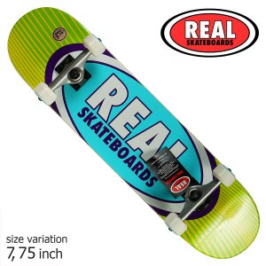 REAL Oval Rays Complete Skateboard 7.75inch コンプリートスケートボード キッズサイズ  crass