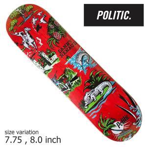 POLITIC Renaud Florida RED 7.75 8.0 inch ポリティック スケートボード デッキ スケボー ストリート|crass