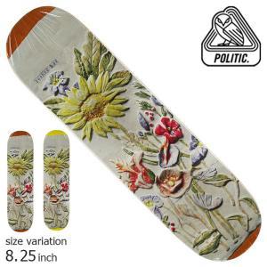 POLITIC Renaud Florida ORANGE 8.0 8.25 inch ポリティック スケートボード デッキ スケボー ストリート|crass