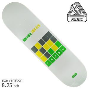 POLITIC Pepper Nova 8.125 8.25 inch ポリティック スケートボード デッキ スケボー ストリート|crass